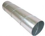 Circular galvanized steel duct