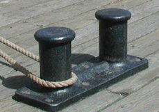 Bollard - quay ship mooring