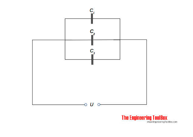 parallel and serial connected capacitors rh engineeringtoolbox com Capacitor and Resistor in Parallel wiring capacitors in series and parallel