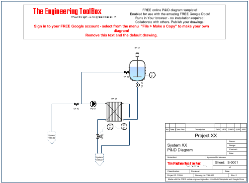p id diagram online drawing tool rh engineeringtoolbox com Network Diagram Amplifier Circuit Diagram
