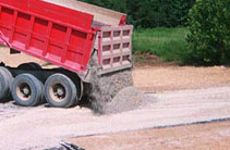 Gravel aggregate - covering area