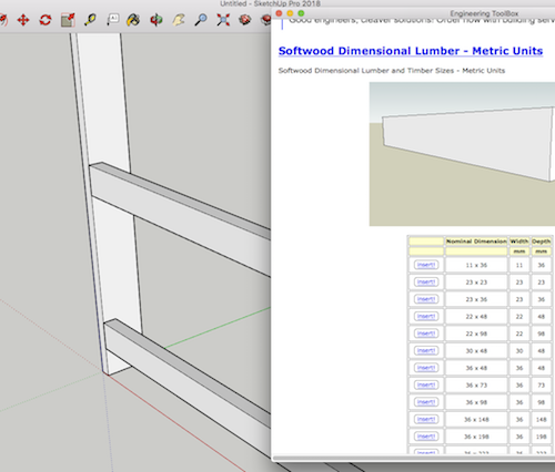 Engineering ToolBox Sketchup Extension - Insert Construction Lumber