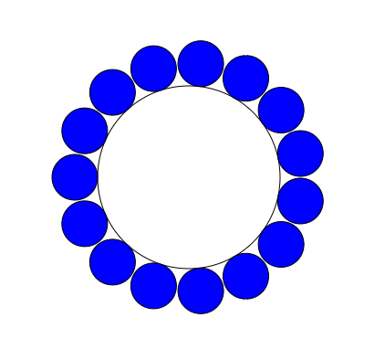 Number of smaller circles on the outside of an larger circle