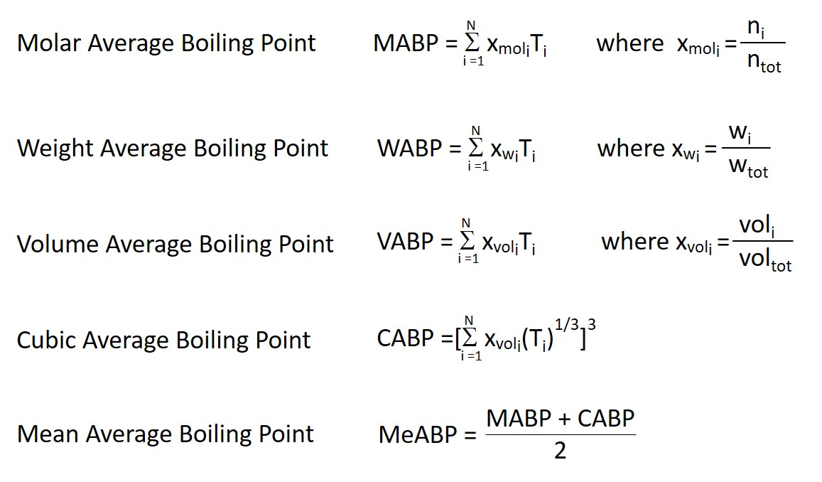 Average boiling point