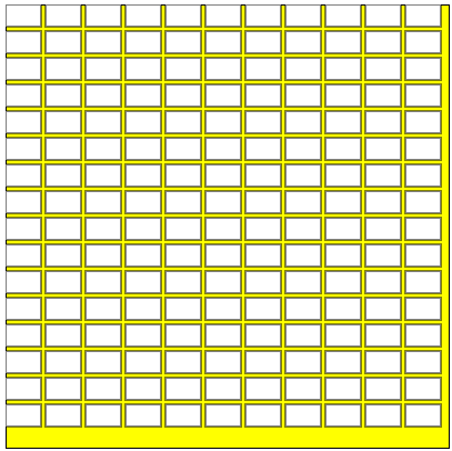 Number of smaller rectangles within a larger rectangle